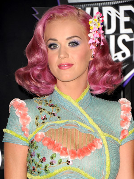 Katy Perry Round Face Shape Hairstyles