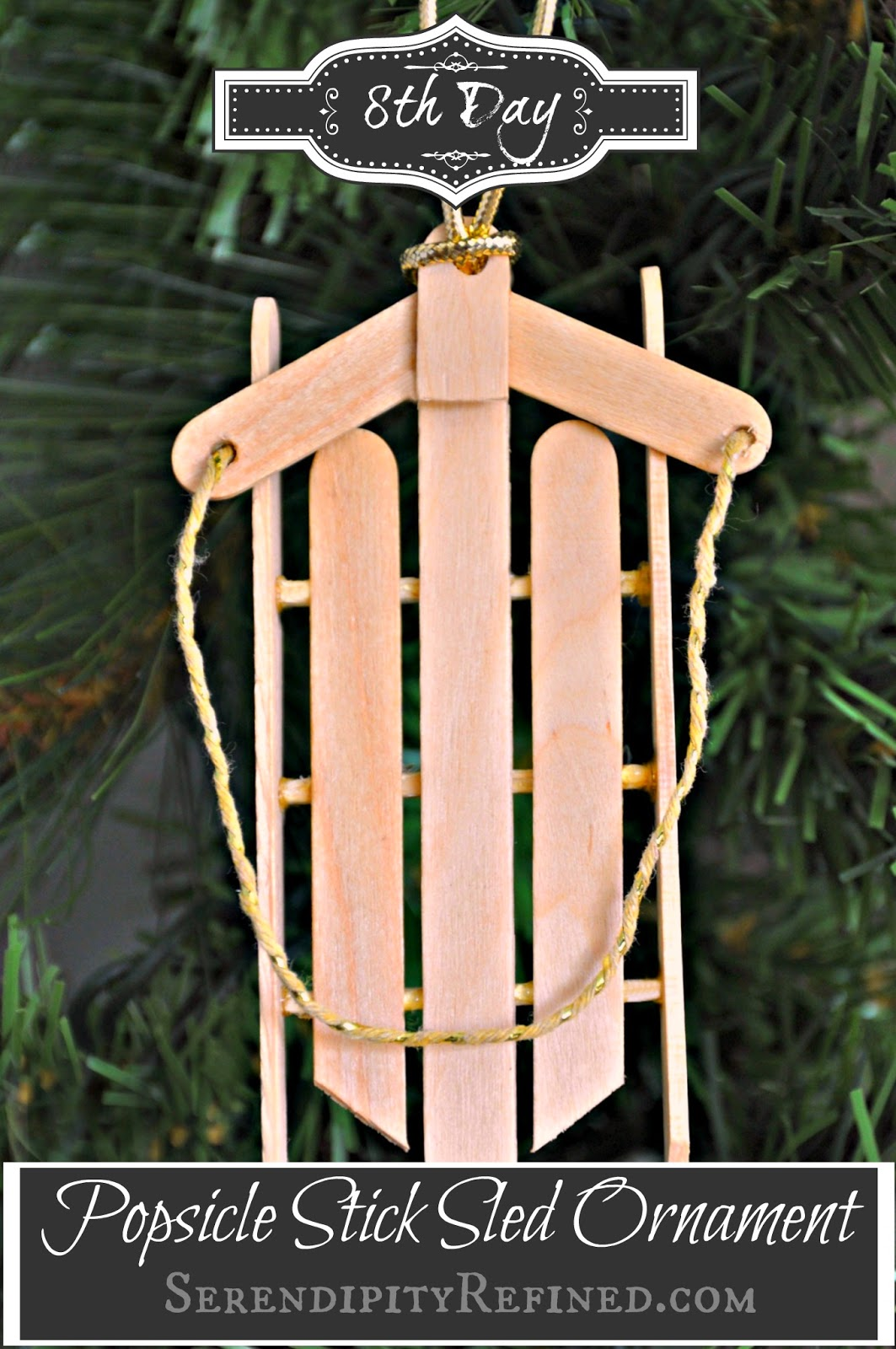 Serendipity refined blog simple popsicle stick sled for Crafts made with popsicle sticks