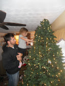 Decorating the tree with Daddy!