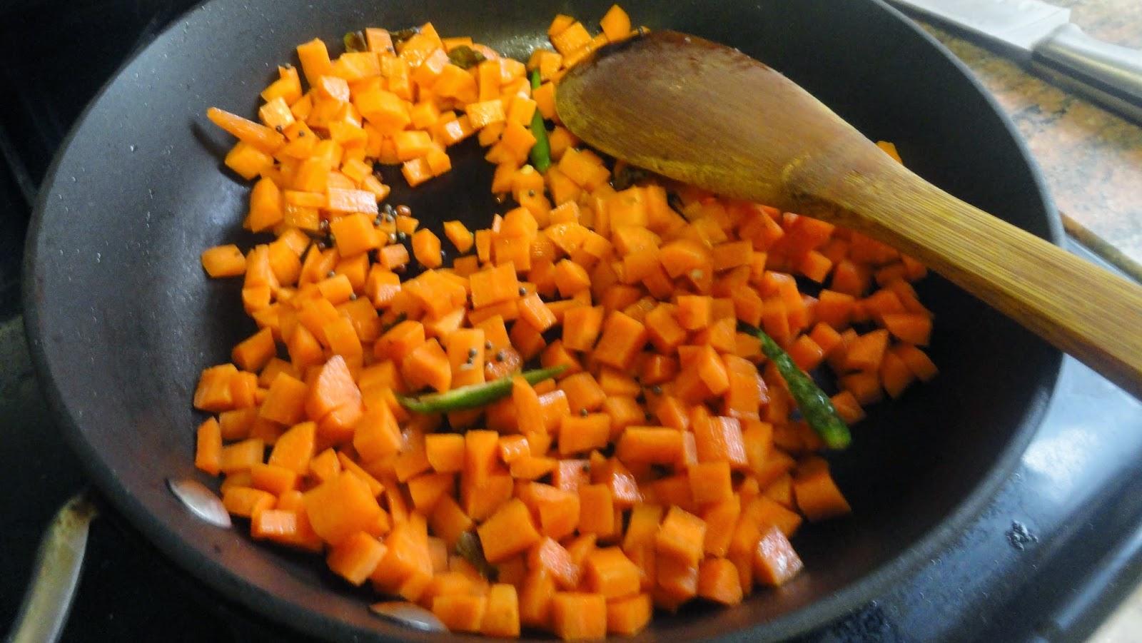 saute carrots