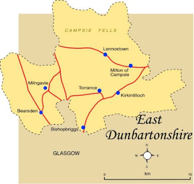 Map of East Dunbartonshire Province