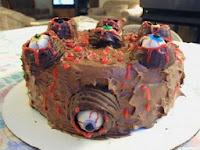 pastel para noche de brujas