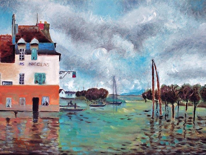 Inondazione a Port Marly - Alfred Sisley - olio su tela