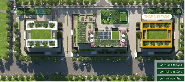 Vị trí tòa B dự án Valencia Garden