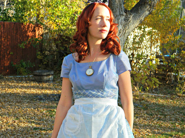 1950s Candy Jones Alice in Wonderland costume dress Just Peachy, Darling