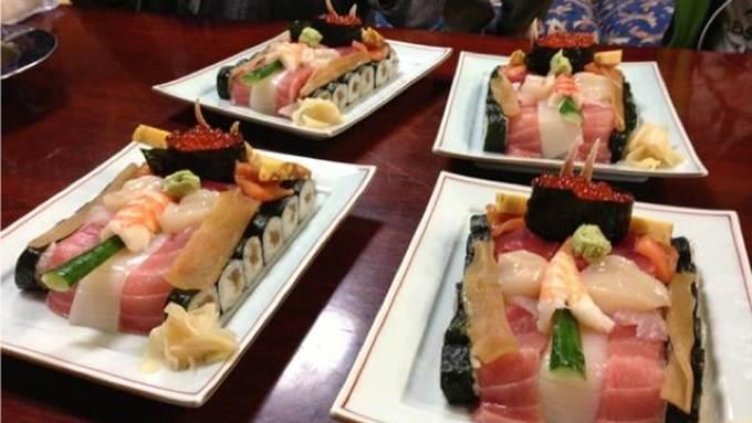 hiasan sushi pelik