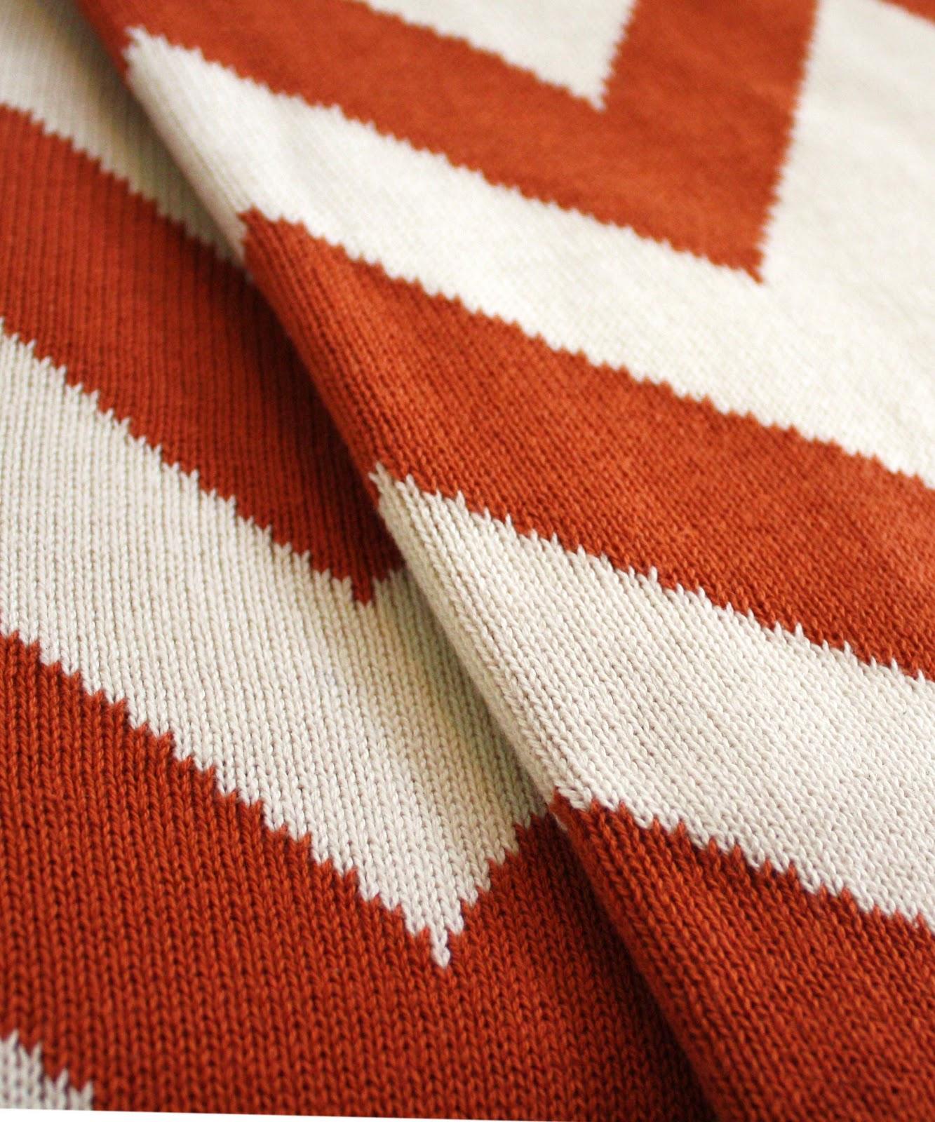 High Street Market: Graphic Knit Throw Blankets