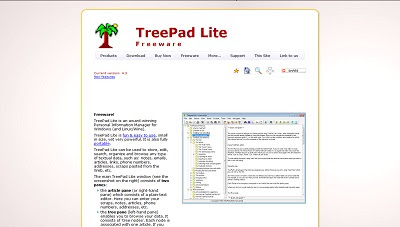 Treepad Lite, File Management