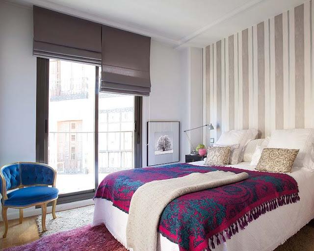 decoração de quarto de casal, decoração com papel de parede