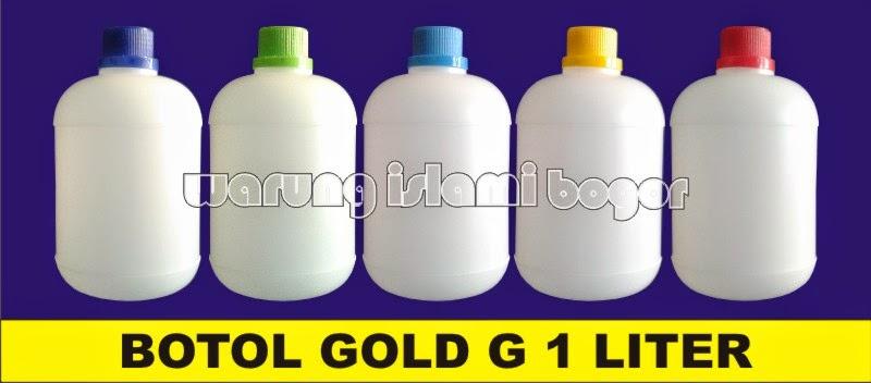 Jual Botol Gold G HDPE Gendut 1 Liter
