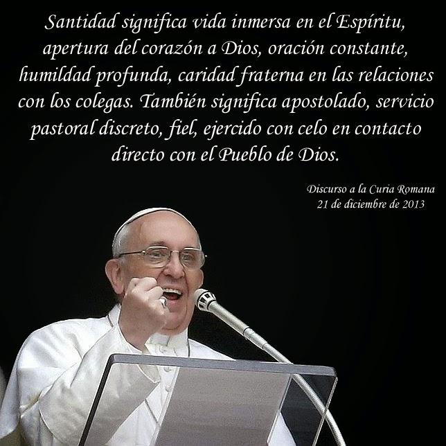 Resultado de imagen de el papa y la santidad