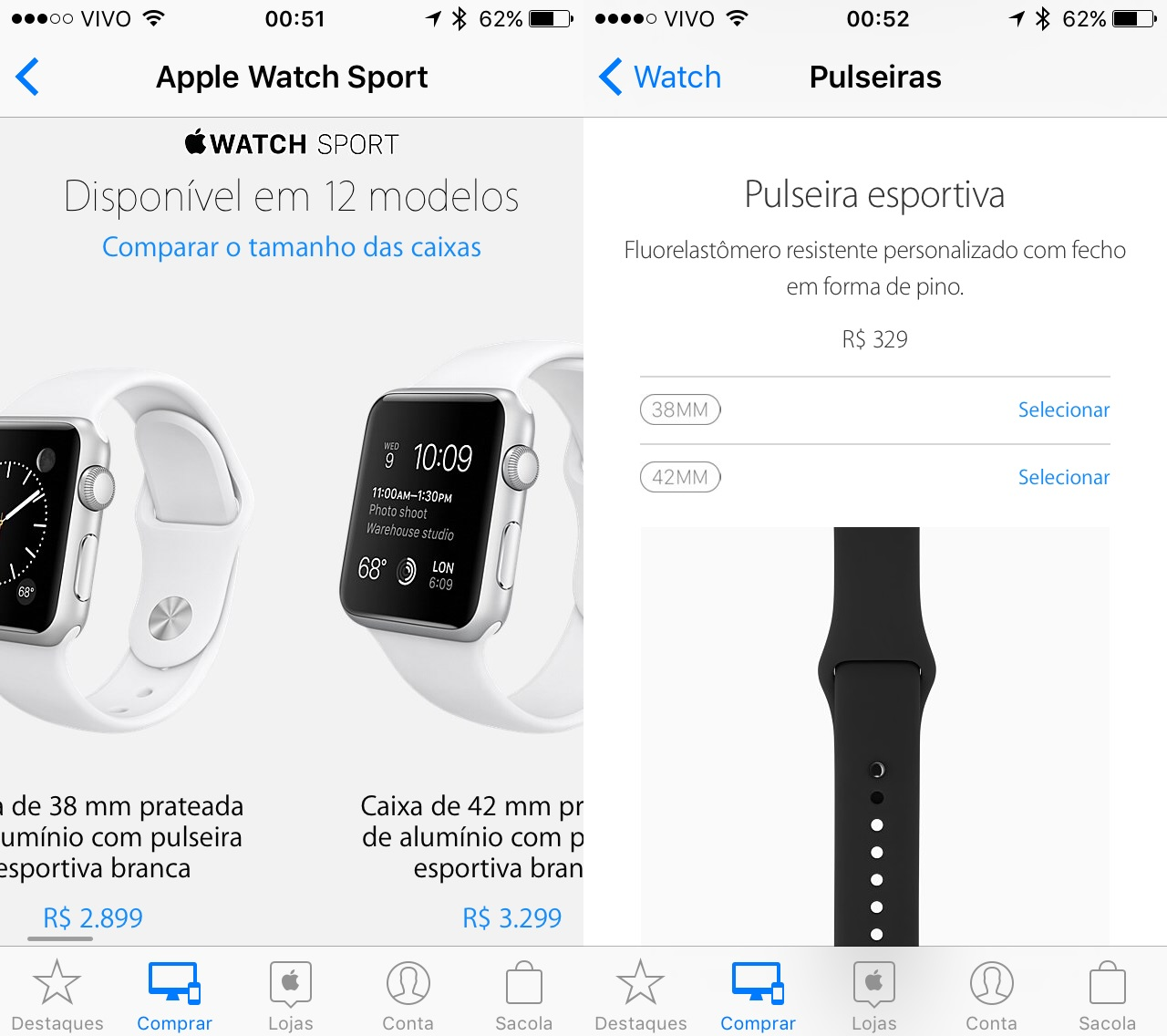 Preço do Apple Watch no Brasil