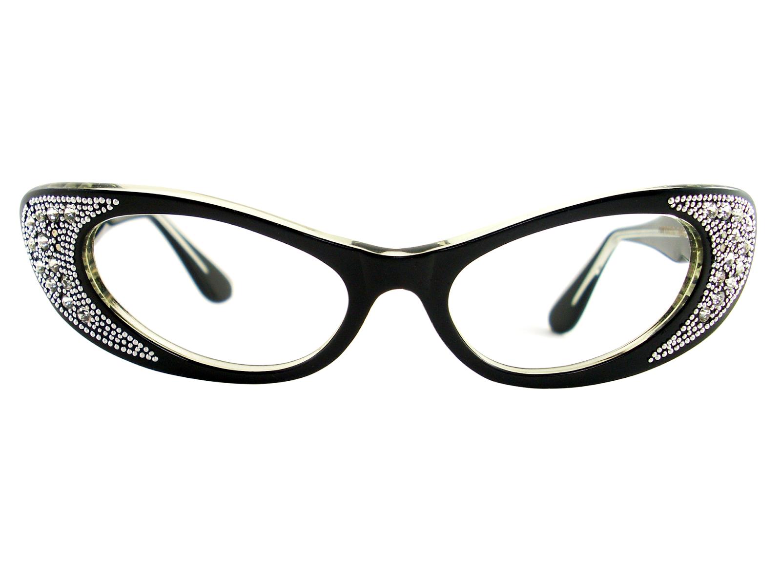 Cat Eye Rhinestone Eyeglass Frames : Vintage Eyeglasses Frames Eyewear Sunglasses 50S: VINTAGE ...
