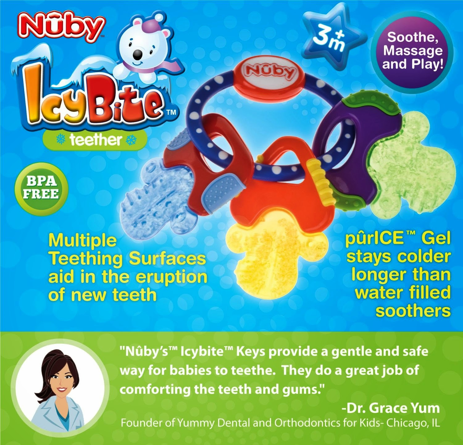 baby teether, Nuby Icy Bite Teether