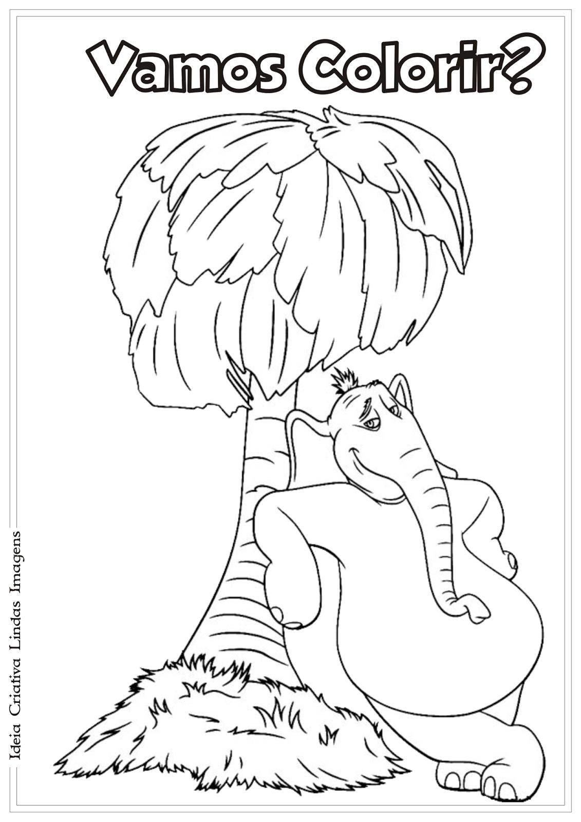 Horton desenho para colorir
