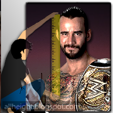 cm punk height how tall all height 2017. Black Bedroom Furniture Sets. Home Design Ideas