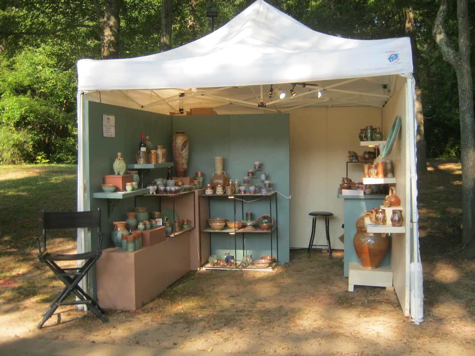 Exhibition Booth Outdoor : Jeff brown pottery the outdoor booth