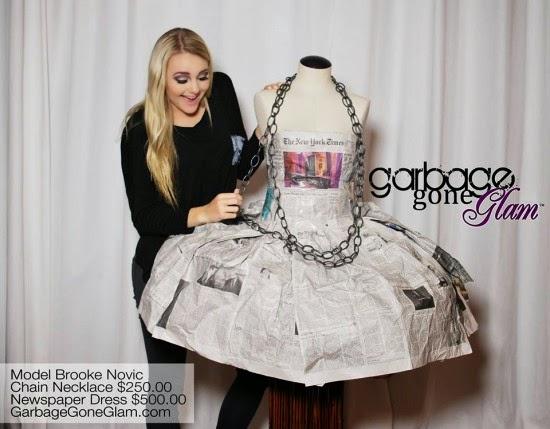 فستان من ورق الجرائد