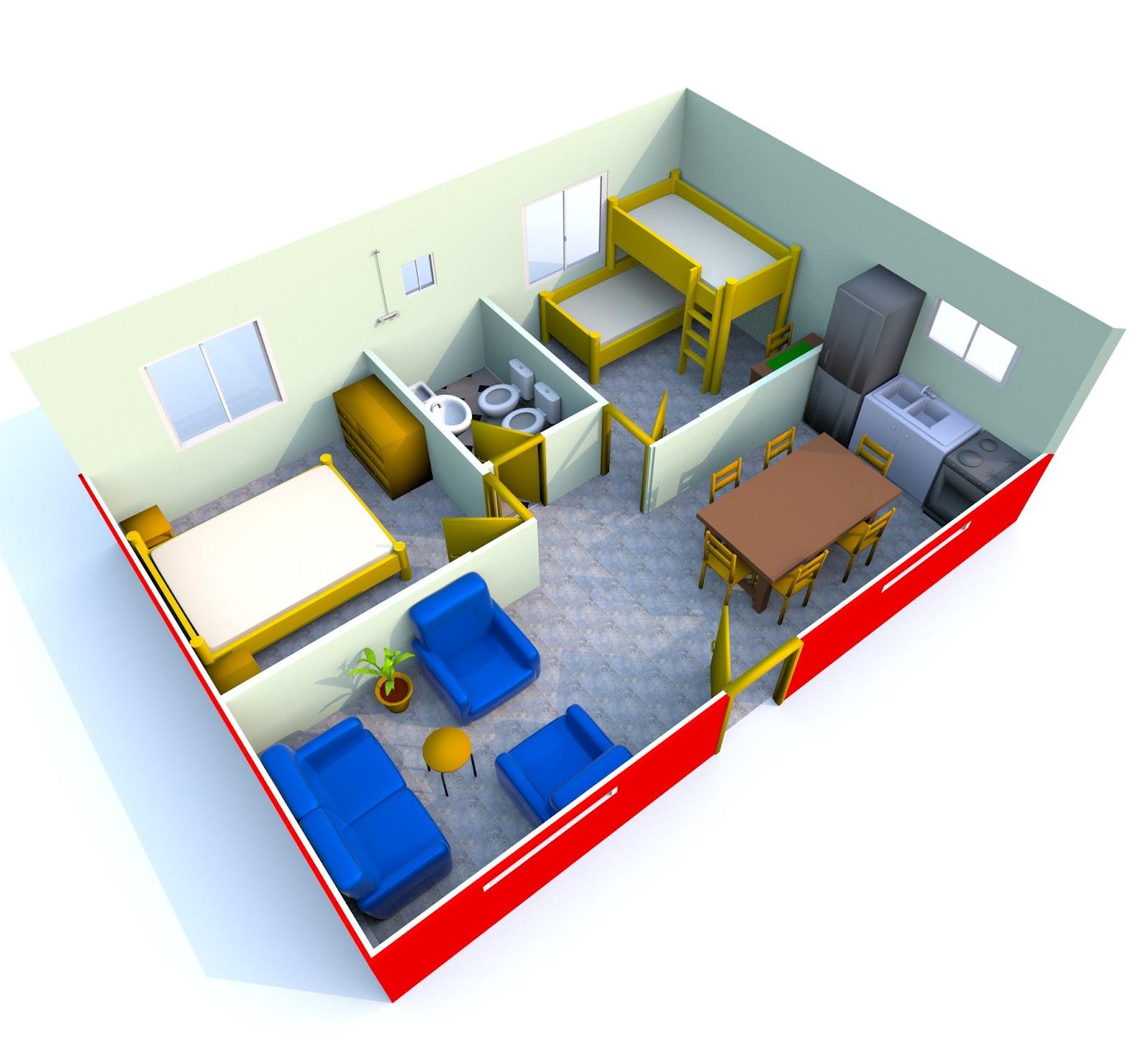 Viviendas la cordobesa santa fe plano de casa de 40 m2 3 for Decoracion casa 40 m2