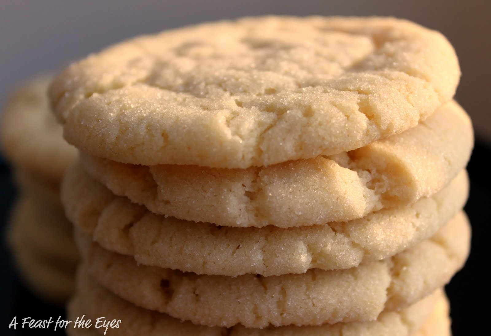 A Feast for the Eyes: Chewy Sugar Cookies