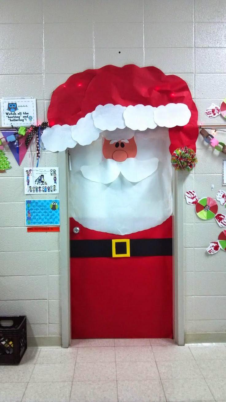 Professora juce decora o de natal para porta da sala de aula - Grosses boules de noel exterieur ...