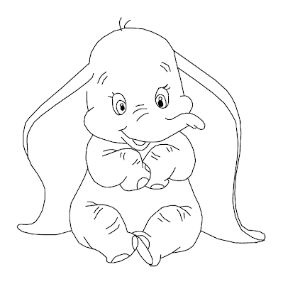 5 Printable Disney Dumbo Characters Coloring Pages