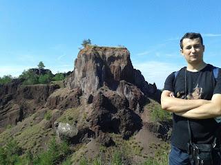 Mijlocul conului vulcanic