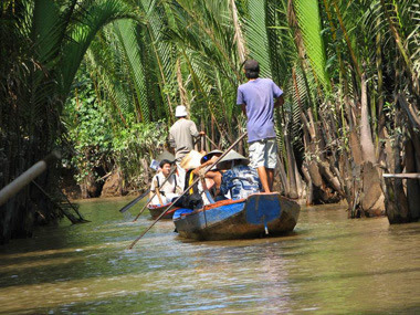 Vam Ho Bird Sanctuary in Ben Tre, Vietnam