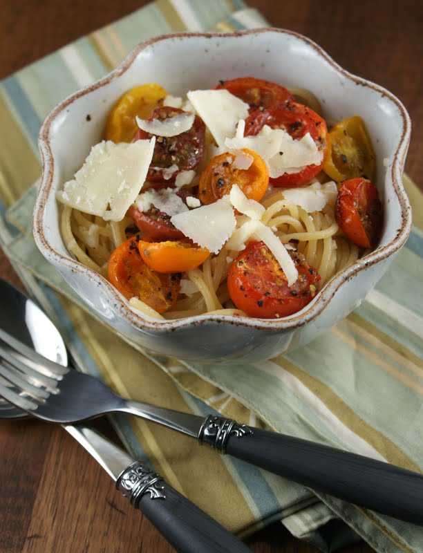 Authentic Suburban Gourmet: Roasted Heirloom Tomato Pasta
