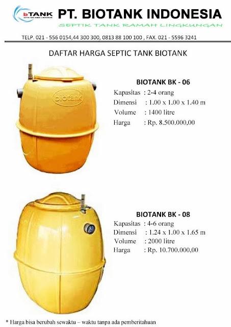 septic tank biotank, produk septic tank, daftar harga, induro, biofil, go green, septic tank murah