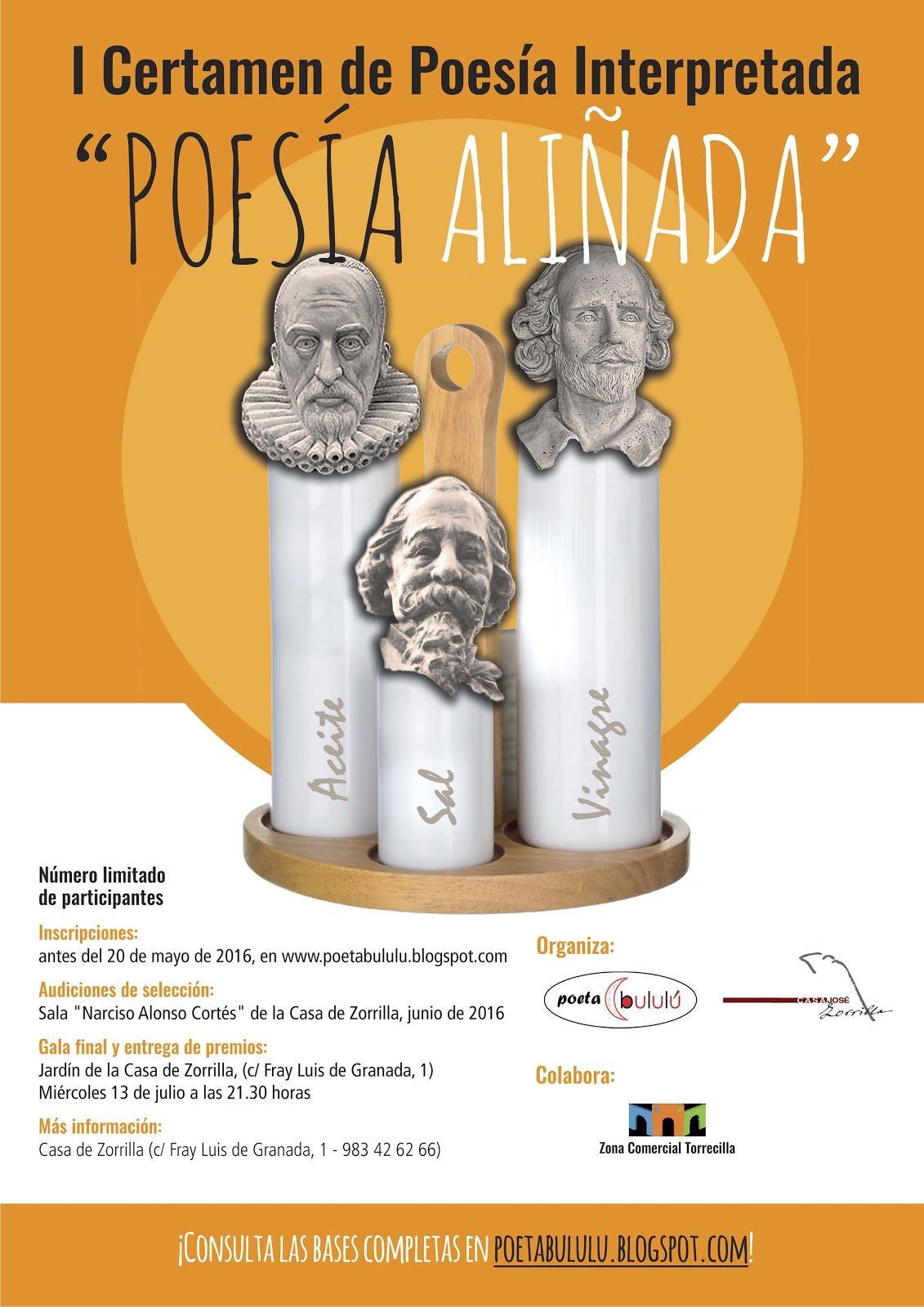 """I Certamen de """"Poesía Aliñada"""" 2016"""