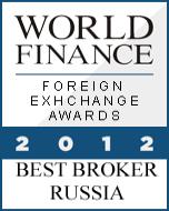 anugerah exness, exness award Best Forex Broker Russia 2012 World Finance