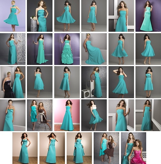 tiffany blue wedding party dresses | Wedding dresses 2013