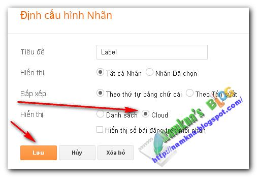 Tùy biến label cloud với CSS cho blogger
