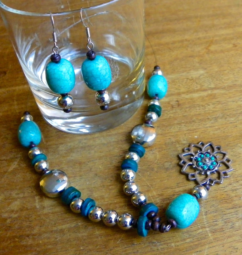 beaded necklace earrings DIY