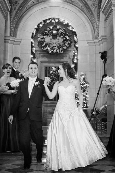 Aldrich Mansion: bride and groom