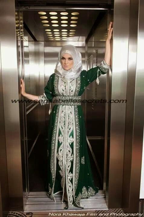 caftan marocain hijab sari indien