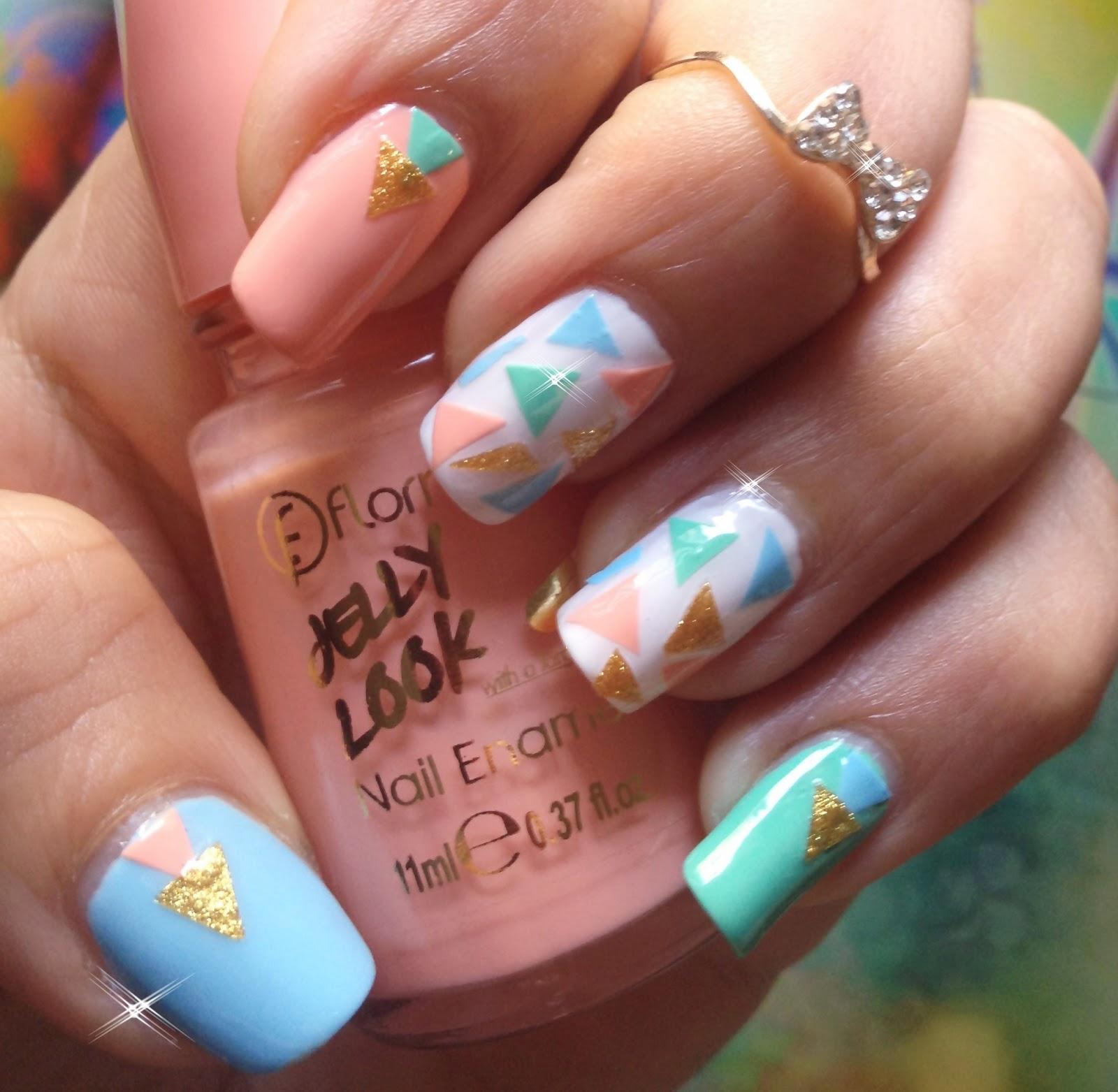 Idée Vernis Facile dedans pretty pretty : nail art facile: des triangles en vernis!