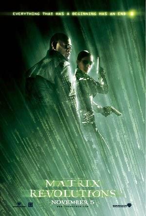 Poster Matrix Revolutions Morpheo y Trinity