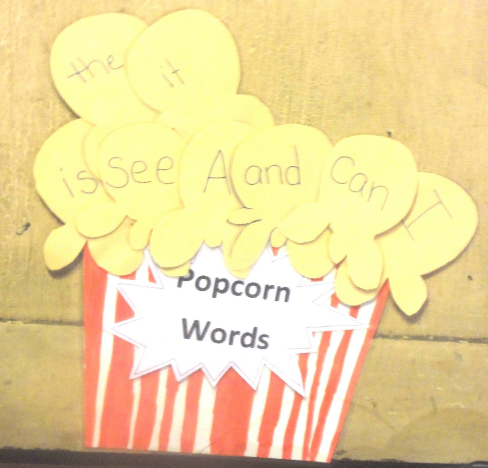 Our Special Gifts: POPCORN words (frequently used sight words)