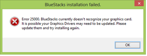 How To Fix Bluestacks Graphics Card Error 25000