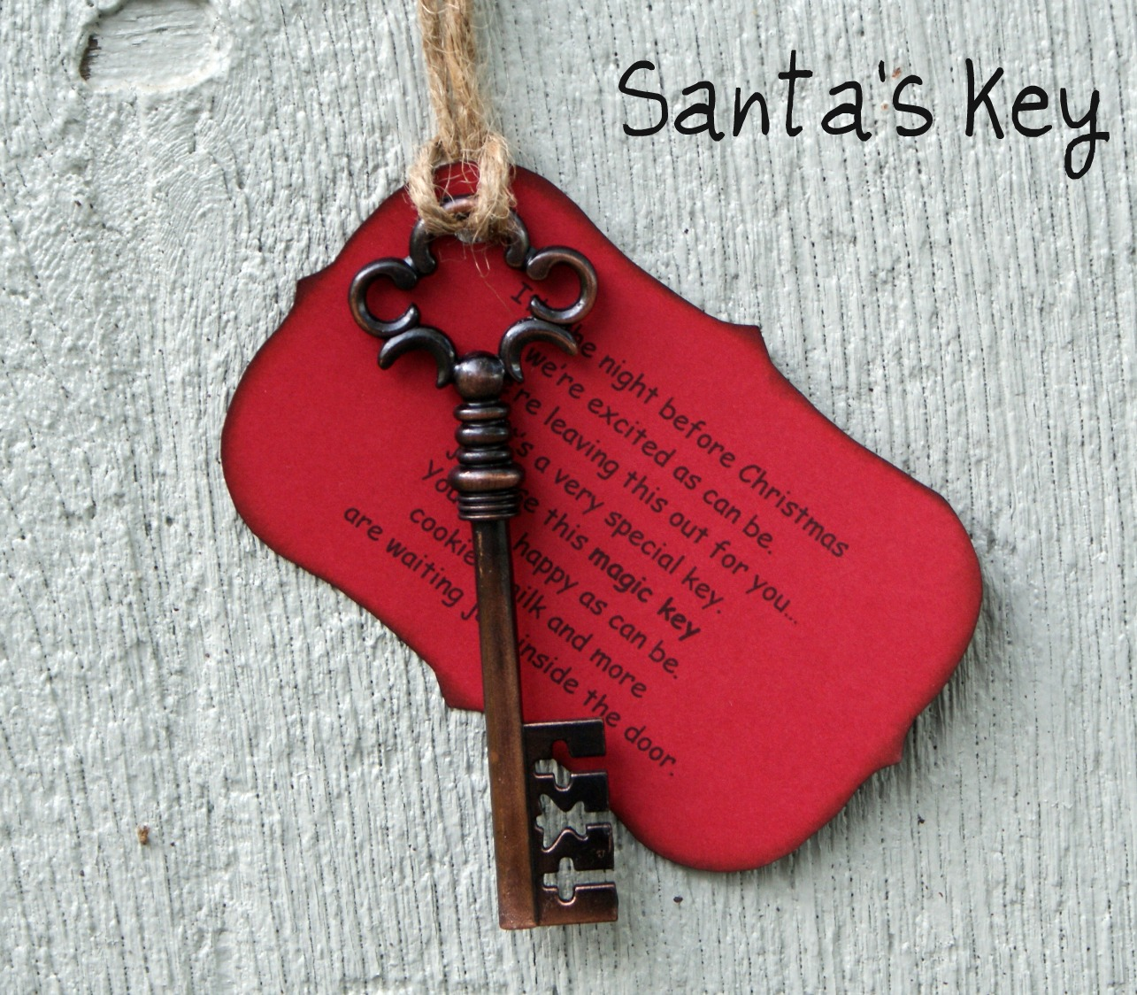 magic key on pinterest santa key keys and google On santa s magic key craft
