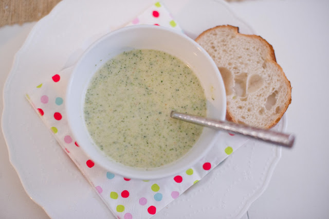 Saint Patrick's Day Broccoli and Cheese soup