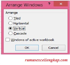 tampilan arrange windows