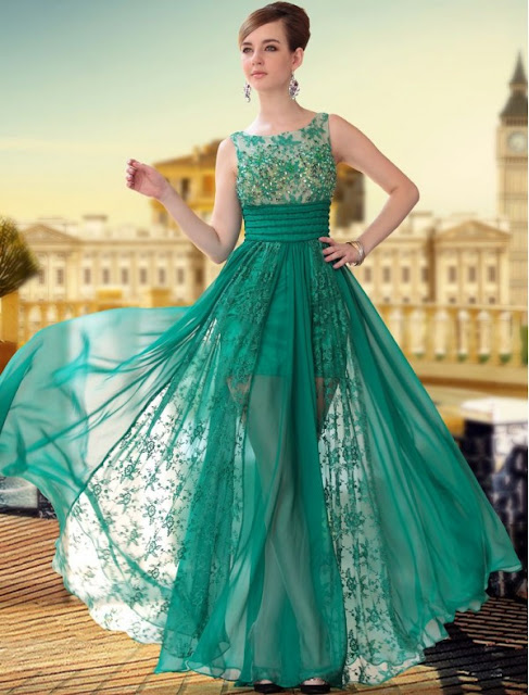 Bateau Neckline Sheath Dress with Lace Appliqued Skirt