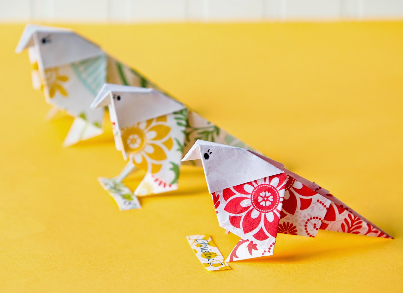 How To Make An Origami Paper Bird Handmade Paper Flowers