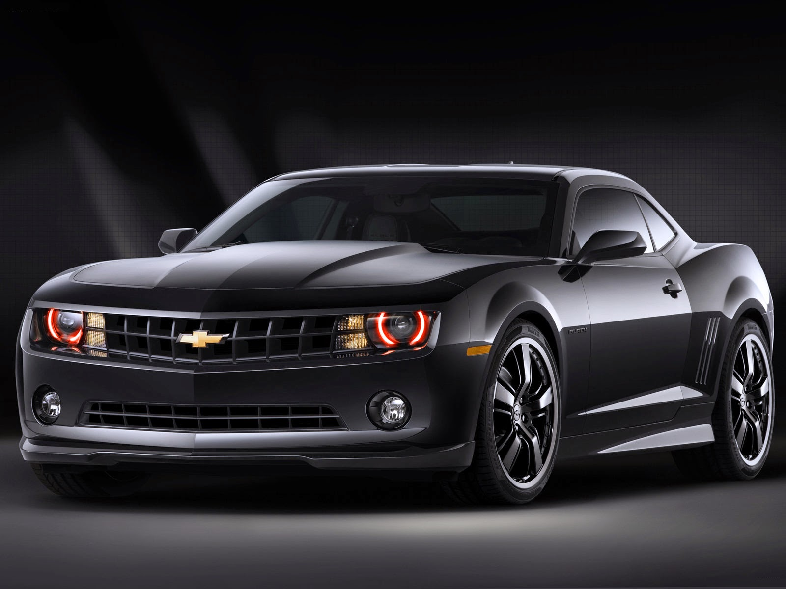 Chevrolet Camaro Black sport muscle car wallpapers HD
