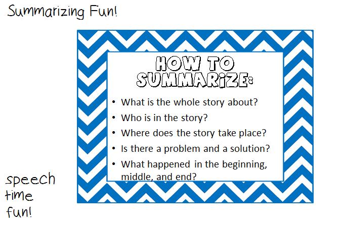 Summarizing Fun!
