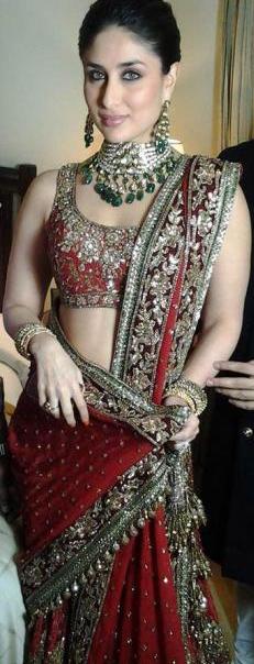 kareena kapoors mumbai reception wedding outfit marriage dress