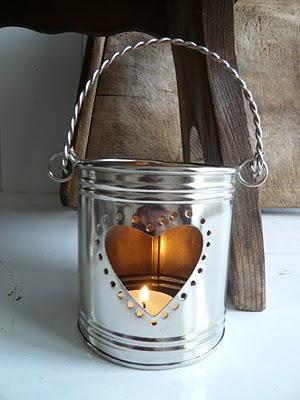 dia dos namorados - artesanato reciclagem - luminária